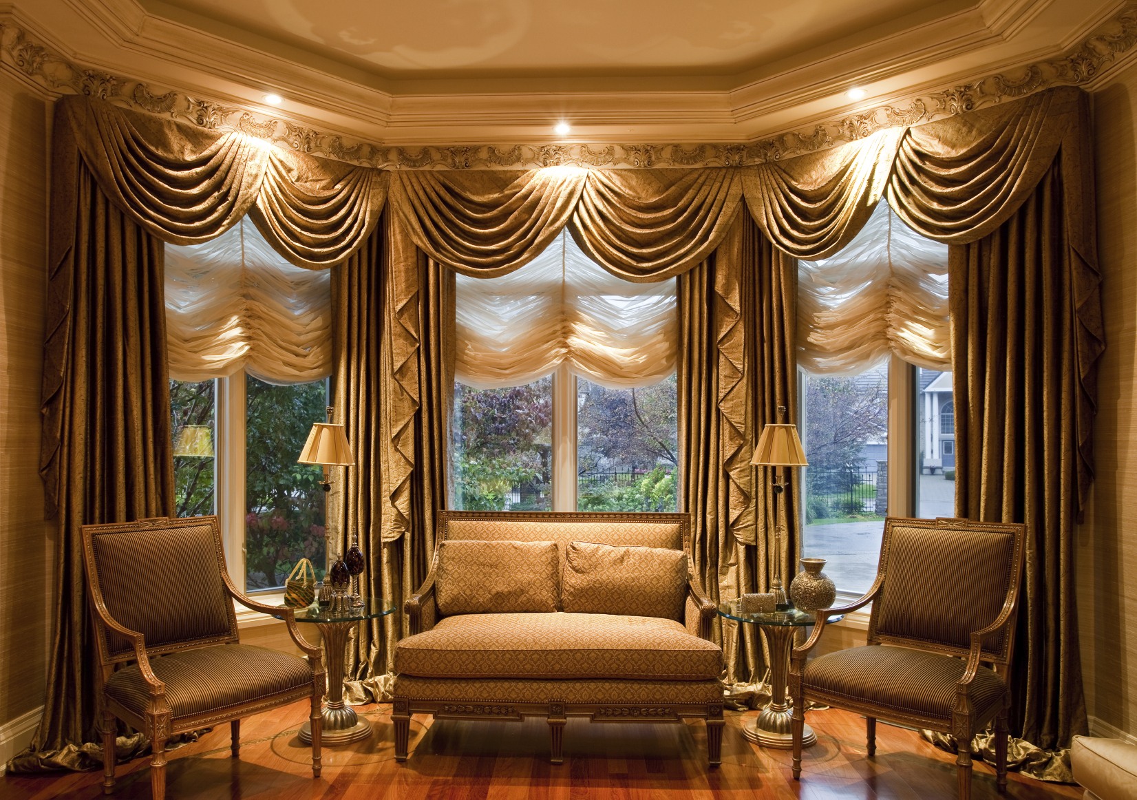 Window treatments roman shades shrewsburyfinishing touches for Elegant windows