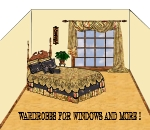 """""""Virtual design rendering of bedding and window treatments jpg"""""""